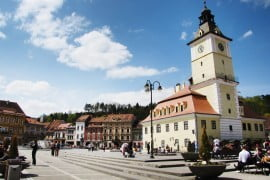 The Old Town Square in Brasov